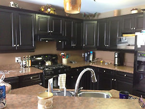KITCHEN CABINET REFINISHING 1/4 COST OF BUYING NEW London Ontario image 1
