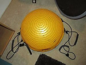 Body Dome Balance Ball with Resistance Cord.