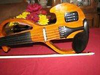 NEW SHARNEL JAZZ ELECTRIC VIOLIN SILENT/MP3 FEATURES