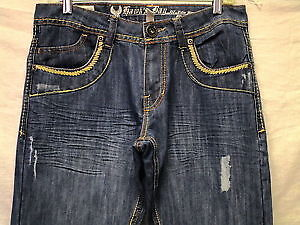 Hawk's Bay mens extra slim fit distressed blue jeans New 40X30 London Ontario image 2