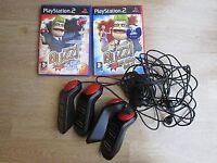 PS2 BUZZ GAMES AND CONTROLLERS.