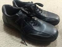 Black lace up shoes: size 9 ($8)