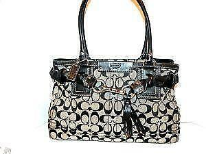 coach gray bag ezak  Used Large Coach Purses