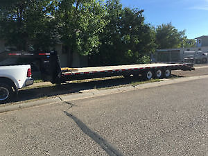 35 foot SWS trailer with beaver tail