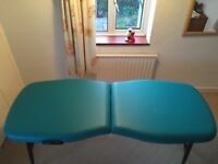 Starlight Protech 2 ultra-light massage table, jade green, fab condition, perfect for mobile therapy