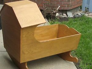INFANT CRADLE: HAND-CRAFTED WOOD