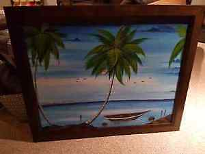 35 x 43 professionally framed painting asking 50