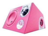 "12"" In Phase pink active sub woofer"