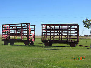 2 Farm Hay Wagons Equipment with thrower racks for sale. NEW