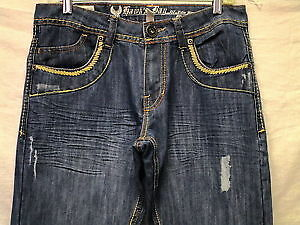 Hawk's Bay mens extra slim fit distressed blue jeans New 40X30 London Ontario image 5