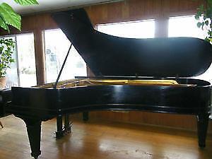 Black Concert Grand Piano