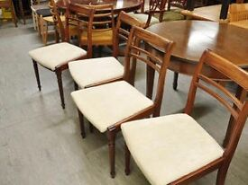 SALE NOW ON!! Set of 4 Dining Chairs - Reupholstered By Our Inhouse Team- Can Deliver For £19
