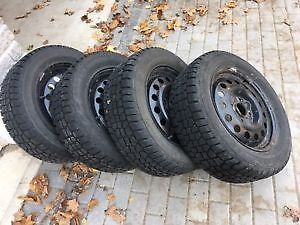 4 winter tires on rims - Hercules Avalanche Xtreme 205 60R15 Peterborough Peterborough Area image 1
