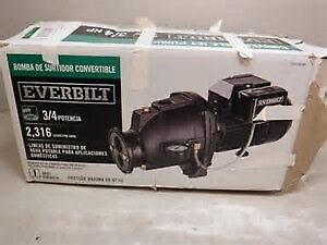 Brand new Everbilt Convertible Jet Pump 3/4 HP