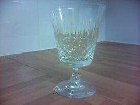 6 Cut Glass Red Wine Glasses