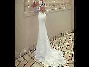 Open Back Wedding Dress With a WOW Factor - Lace Mermaid Gown!