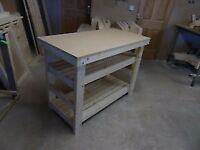 Handmade Wooden Workbench FLAT TOP - 2Ft, 3Ft, 4Ft and 5Ft
