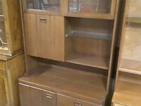20% OFF ALL ITEMS SALE - Display Cabinet With Drinks Bureau, Shelves, & Drawers- Can Deliver For £19