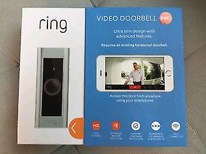 Brand new sealed Ring - Video Doorbell Pro only 210$