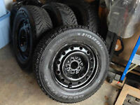 4 P225/60R16 Goodyear Nordic Tires and rims