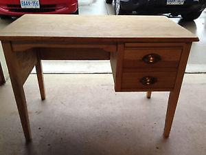 Antique Solid Tiger Oak Writing Desk