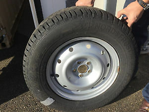 Barely used WINTER TIRES with RIMS (Subaru Outback 2013) London Ontario image 2