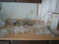 chrystal, glass dishes