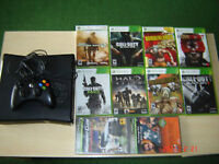 XBOX 360 and accessories + 10 games