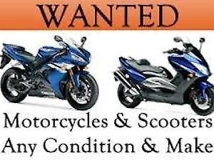 Motorcycles and scooters wanted cash waiting