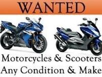 Motorbikes and scooters wanted cash waiting