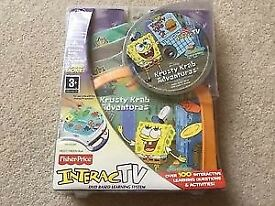 Fisher Price Interac TV - Spongebob Square Pants Kristy Krab Adventures NEW