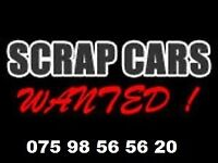 WANTED, USED CARS BOUGHT, SCRAP CAR'S AND VANS MOT FAILURES ACCIDENT DAMAGED