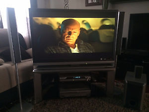"""46"""" TV with Complete Surround Sound Package DVD/CD/VHS included"""