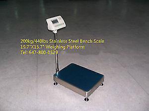 440lbs Stainless Steel Bench Scale/Waterproof Weighing Scale