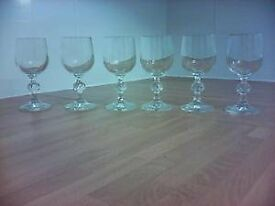 6 Sherry/Port Glasses