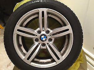 4 x BMW rims 235/40/18 MICHELIN ALPIN WINTER tires %75 tread lef