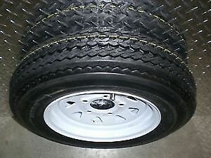 "ST 5.30-12 - 12"" Trailer Tires on White Rims $79 - CLENTEC"