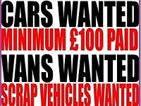 Scrap cars vans and 4x4s wanted dead or alive