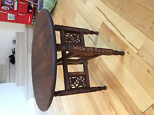 Hand carved vintage rosewood table/tray stand. Bohemian style!