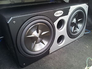 2 12 in clarion subs in clarion ported box