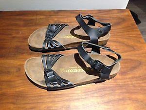 Black Leather Birkenstocks Sandals