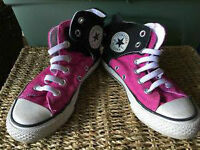 Girls size 12.5 converse hightops, $15, in Vernon