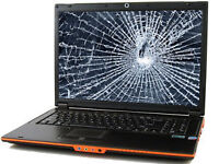 "Laptop Cracked Screen Repair 14"" to 17"""