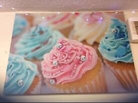 Cup cake canvas