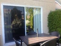 Portes-patio et moustiquaire!!