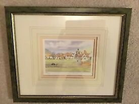 K W Burton finchingfield essex framed picture 209 / 600 Frame size is 31x26cm