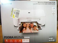 BRAND NEW Canon PIXMA MG3520 Printer White  3 IN 1