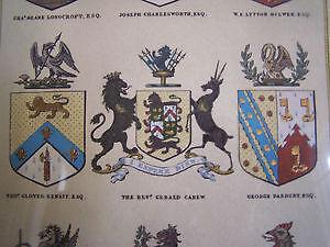 'The Heraldic Register' - Beautiful Framed Print Cambridge Kitchener Area image 6