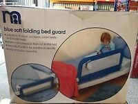 Mothercare light blue single bed guard