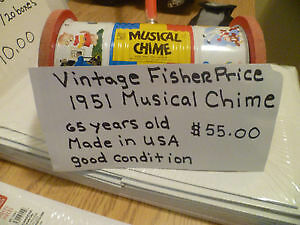 Vintage Fisher Price 1951 Musical Chime